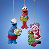 "3.75"" Sesame Street Cookie Monster Decorative Character Christmas Ornament"