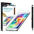 Samsung Galaxy S5 Screen Protector Tempered Glass Sentey® Koraza 9h 0.33mm Ls-11205 Bundle with Free Metal Stylus Touch Screen Pen {Lifetime Warranty}