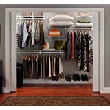 ClosetMaid 2891 ShelfTrack Closet Organizer, 7 to 10-Feet, White