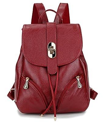 Tibes la mode en cuir petit sac à dos étanche pour les filles / femmes