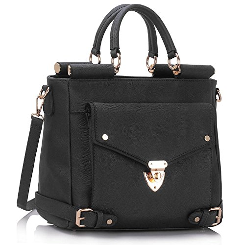 Ladies Faux Leather Quality Handbag Women's Fashion Designer Tote Bag Celebrity Style Quality Bags CWS00237A