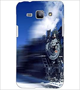 PrintDhaba Train D-5035 Back Case Cover for SAMSUNG GALAXY J1 (Multi-Coloured)
