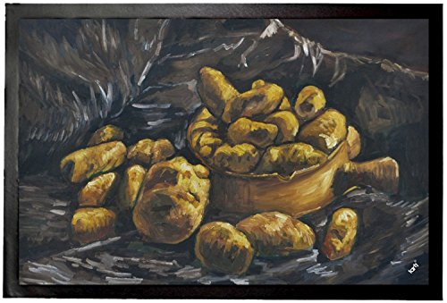 Vincent Van Gogh Paillasson Essuie-Pieds - Nature Morte Avec Des Pommes De Terre Dans Une Coupe, 1885 (60 x 40 cm)