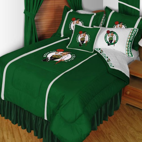 NBA Boston Celtics Sidelines Twin Comforter and Sheets