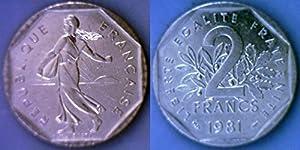 1981 France 2 Francs Coin