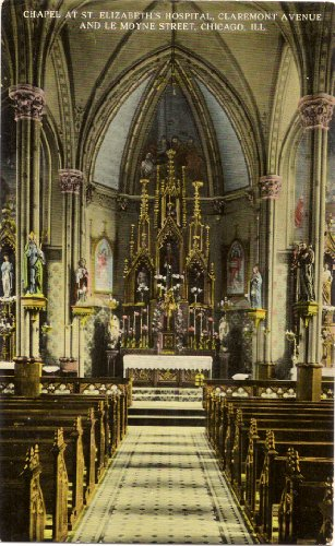 1920s Vintage Postcard Chapel at St. Elizabeth's