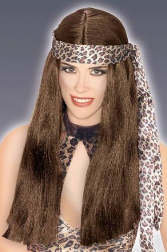 Brown Cave Woman Adult Wig