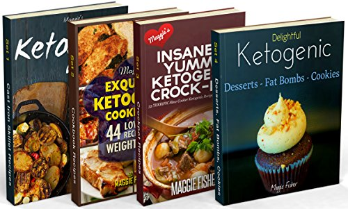 Insanely Low Carb Box Set - 200 Ketogenic Recipes: Breakfast, Lunch, Dinner, Snacks, Desserts, Cast Iron, Slow Cooker / Crockpot Recipes by Maggie Fisher