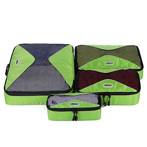 HEXIN Durable 4 Pcs Luggage Travel Packing Cube