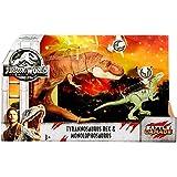 Jurassic World 2 Fallen Kingdom Tyrannosaurus Rex & Monolophosaurus (Color: Multicoloured)