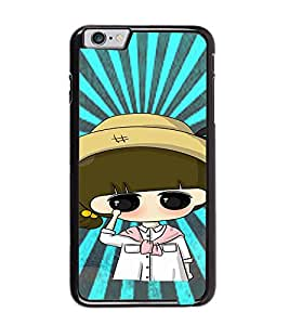 Fuson Premium Sweet Girl Metal Printed with Hard Plastic Back Case Cover for Apple iPhone 6