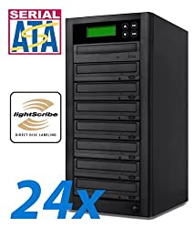 Bestduplicator LS Series - 7 Target 24X Sata LightScribe DVD CD Duplicator (Standalone Audio Video Copy Tower, Duplication Device)