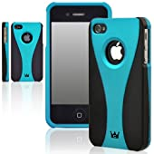 CaseCrown Exo Case (Turquoise/Black) for Apple iPhone 4 / 4S