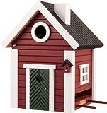 ワイルドライフガーデン社 鳥の巣箱/餌箱 スウェーデンデザイン (ベンガラ)