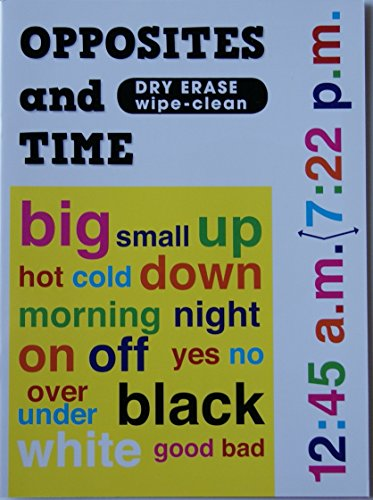 Kids' Dry Erase Work and Activity Book - Opposites and Time