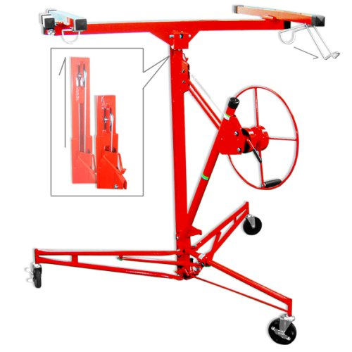 Pro Grade Drywall Panel Lift - Hoist 11'-Ceiling 15'Wall - One-Person Panel Application