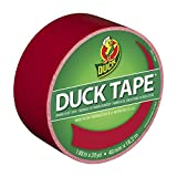 Duck Brand 1265014 Colored Duct Tape, Red, 1.88-Inch by 20 Yards, Single Roll