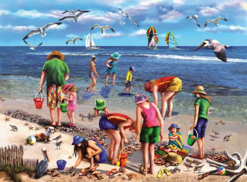 Shell Seekers -550 Piece Jigsaw Puzzle