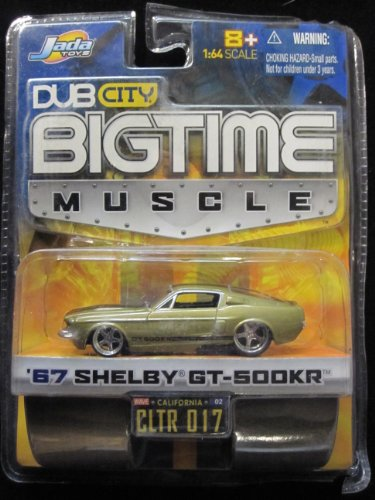 67 Shelby GT-500 KR (Gold/black Stripes) Dub City Bigtime Muscle By Jada - 1