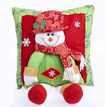 Santa Claus Xmas tree decoration snowman pillow