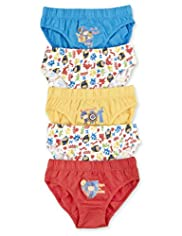 5 Pack Pure Cotton Mike the Knight Assorted Slips