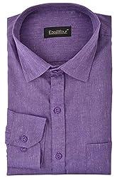 Edinwolf Men's Formal Shirt (EDFR724_41, Purple, 41)