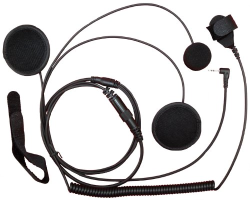 Secuda Full Face Close Helmet Motorbike Motorcycle Headset/Earpiece For Cobra Micro-Talk 2 Two Way Radio 1-Pin