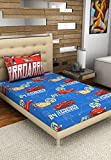 Bombay Dyeing Disney Classic Single Bedsheet with 1 Pillow Cover - Blue and Red