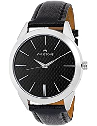 Swisstone GR140-BLACK Black Dial Black Strap Analog Wrist Watch For Men/Boys