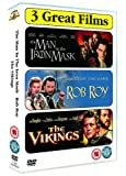 echange, troc Action Triple - Man in the Iron Mask/Rob Roy/the Vikings [Import anglais]