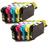 10 Compatible Printer Ink Cartridges for Epson Stylus SX235W, SX420W, SX425W, SX435W, SX445W, SX525WD, SX620FW and Epson Stylus Office B42WD, BX305F, BX305FW, BX320FW, BX525WD, BX625FWD, BX925FWD, (T1295 Multipack contains: 4x T1291, 2x T1292, 2x T1293,