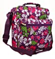 Womens Girls Pretty Floral Gym Maternity Hand Luggage Travel Holdall Flight Bag (Dark Lilac/Light Pink/Light Blue/Purple)