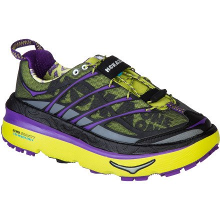 Hoka One One Mafate 3 Trail Running Shoe - Women's Lime/Anthracite/Purple, 10.0