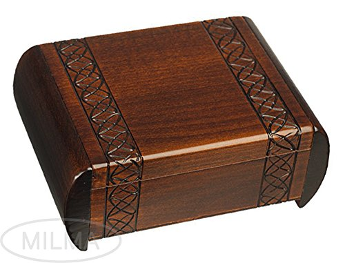 Traditional Dark Linden Wood Design Secret Box For Jewelry and Keepsakes (Linden Wood compare prices)