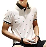 (メイク トゥ ビー) Make 2 Be カジュアル メンズ ポロシャツ ゴルフ MF29 (10.白_鹿柄_M)