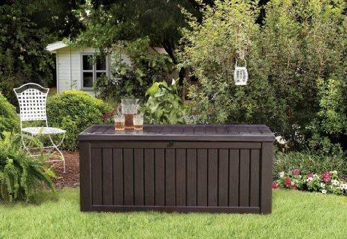 Keter Rockwood Deck Box, 150-Gallon