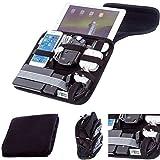 Ultimateaddons® Ultim-IT Reisetasche mit Ersatzteile Organiser für Apple Ipad Air / Air 2 9.7 Zoll (5. und 6. Generation)