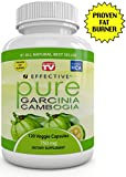 "Effective GARCINIA CAMBOGIA Extract - As Seen On Dr Oz - RAPID FAT BURNER - Pure Proven Premium Formula - FAST WEIGHT LOSS - 4500 mg Daily - ""Pure"" POTENT 60% HCA - Plus Appetite Suppressant - No Diet Or Exercise - 100% LIFETIME GUARANTEE - 120 - Pure Veggie Capsules"