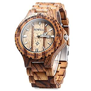 Wood band wristwatch gift giving zebra wood watches watches