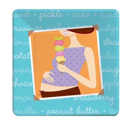 Mommy Chic Baby Shower 7 Inch Cake Plates front-22837
