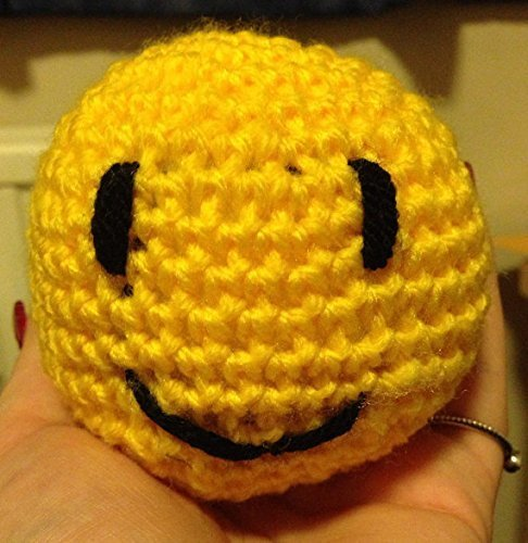 Stress Ball/Toy/Relief Hand Crochet Stuffed Smiley Face Happy Face Desk Ball