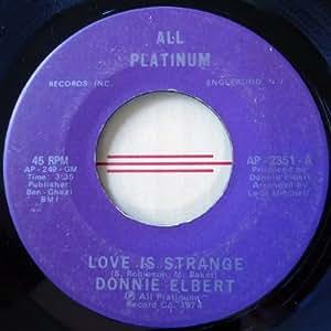 """Donnie Elbert - Love Is Strange - [7""""]"""