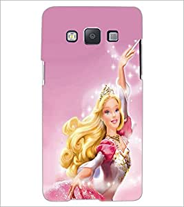 PrintDhaba Barbie Doll D-1015 Back Case Cover for SAMSUNG GALAXY A5 (Multi-Coloured)