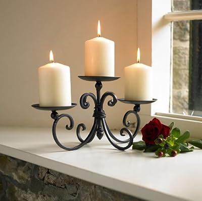 Three Pillar Iron Candle Display Holder