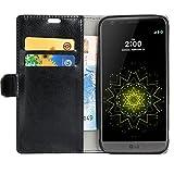 LG G5 Hülle,Smacho Ledertasche Bookstyle Leder Flip Case