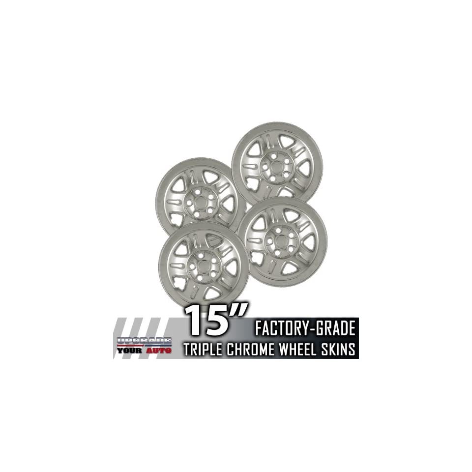 2002 2006 Jeep Wrangler 15 Chrome Wheel Skins