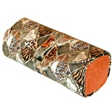 Paylak TS1121OGE Jewelry Roll Travel Organizer with Leopard Print and Orange Gold Accents Tech Swiss