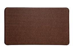 Imprint® Cumulus9 Kitchen Mat Cobblestone Series 20 in. x 36 in. x 5/8 in. Toffee Brown