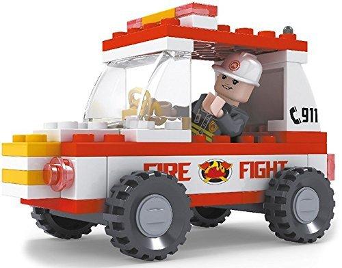 Brictek 21302 Fireman Jeep 911