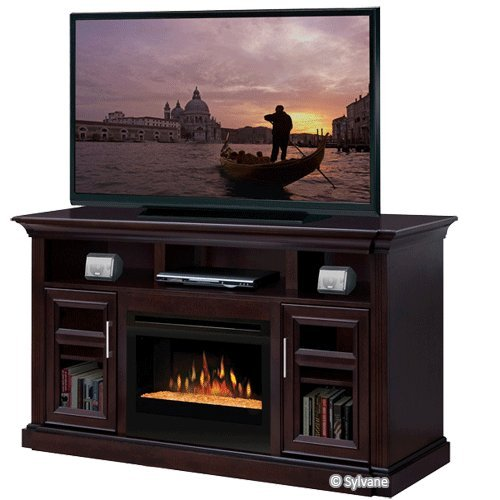 Bailey 66 Tv Stand With Electric Fireplace Insert Style Logs Lowes Electric Fireplace
